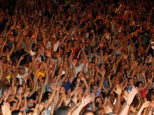 Público lotou Concha Acústica neste sábado (Foto: Mateus Pereira/GOVBA)