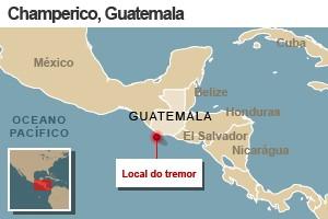mapa terremoto guatemala 7/11 (Foto: 1)