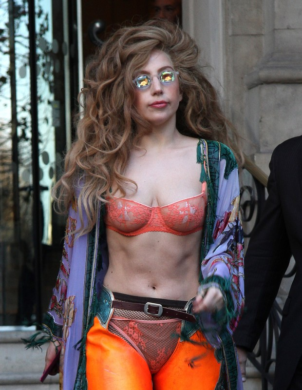 Lady Gaga em Londres, na Inglaterra (Foto: Simon James/ Getty Images)