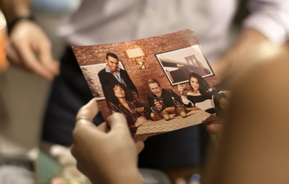 Loreta em foto ao lado de Salvatore (Foto: TV Globo)