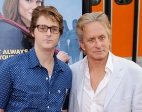 Cameron e Michael Douglas (Foto: Gregg DeGuire/Agência Getty)