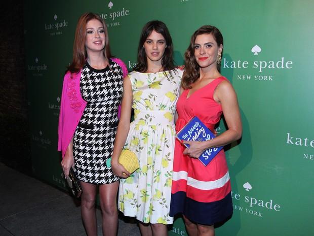 Marina Ruy Barbosa, Laura Neiva e Carolina Dieckmann em evento em São Paulo (Foto: Celso Tavares/ EGO)