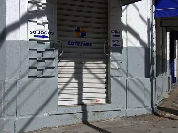 Aposta da Mega-Sena foi feita em lotérica de Itu (Foto: Reprodução/TV TEM)