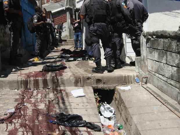 Operação no Morro do Juramento, no Rio (Foto: Severino Silva/Agência O Dia/Estadão Conteúdo)