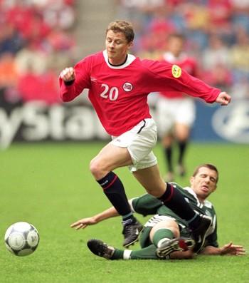 Ole Gunnar Solskjaer Noruega Eurocopa 2000 (Foto: Getty Images)