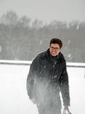 Lucirio Gonçalves de Morais enfrentou baixas temperaturas na Rússia (Foto: Arquivo pessoal)