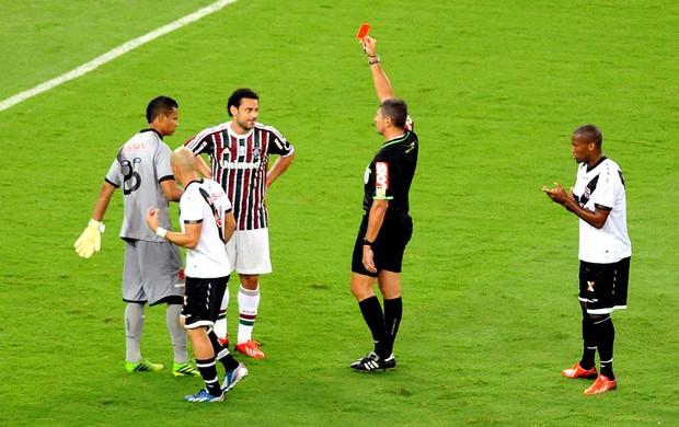 fred fluminense expulso cartão vermelho marcelo de lima henrique (Foto: André Durão / Globoesporte.com)