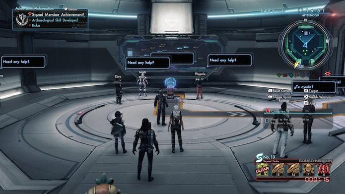 Xenoblade Chronicles X: entre na estação em Blade Barracks (Foto: Reprodução/Victor Teixeira)