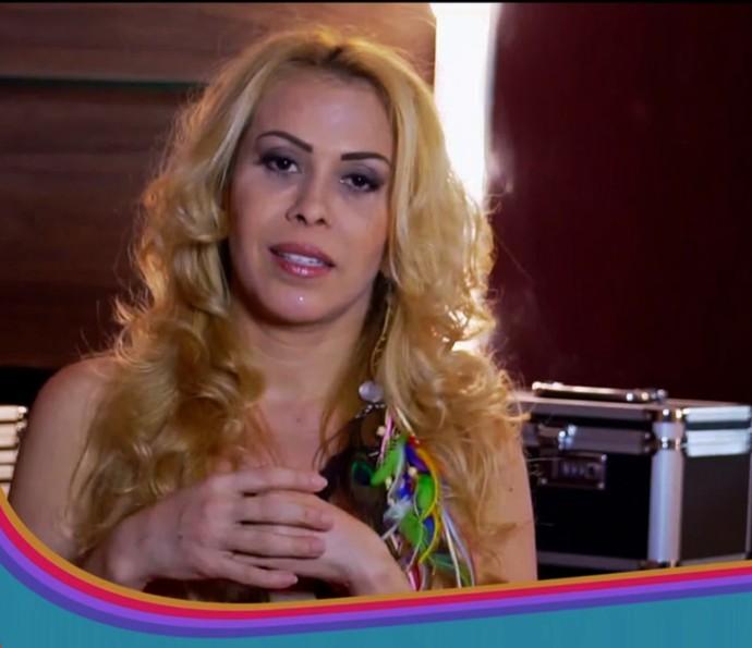 Joelma conta que fica encantada pelas cores de frutas e legumes das feiras (Foto: TV Globo)