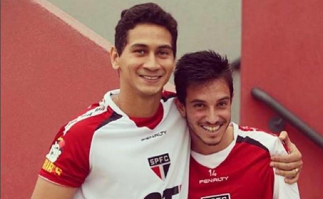 Mirray, meia-atacante do São Bento, ao lado de Paulo Henrique Ganso (Foto: Reprodução/ Instagram)