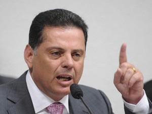 Marconi Perillo durante depoimento à CPI do Cachoeira (Foto: Wilson Dias / Agência Brasil)