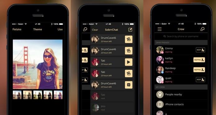 O Sobrr permite o envio de imagens e outros conteúdos que desaparecem depois de 24 horas (Foto: Divulgação/AppStore)