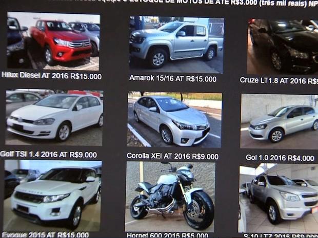 Quadrilha vendia carros apreendidos e fugia com o dinheiro das vítimas (Foto: Reprodução/TVCA)