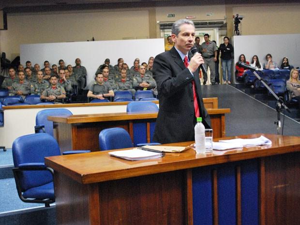 Major Gerson Rosa Pereira prestou depoimento nesta segunda-feira (Foto: Daniela Huberty/Divulgação)
