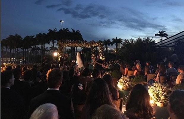O casamento de Fabio Porchat e Nataly Mega (Foto: Reprodução Instagram)