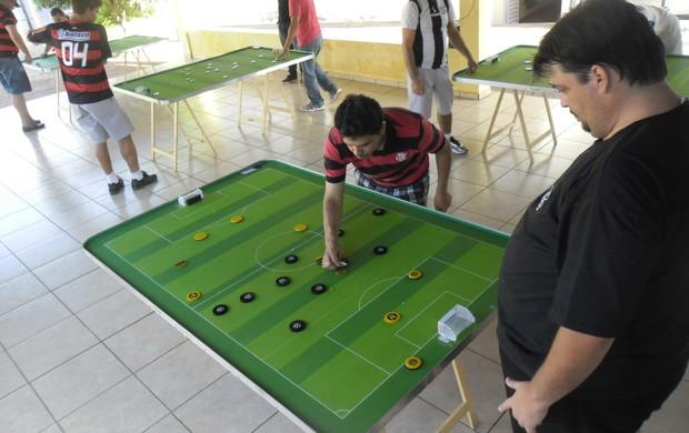 Seis equipes disputam estadual de futebol de mesa (Foto: Divulgação/Fefumems)