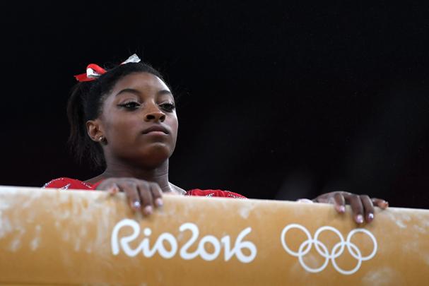 Simone Biles, da equipe de ginástica artística dos EUA (Foto: Laurence Griffiths / Getty Images)