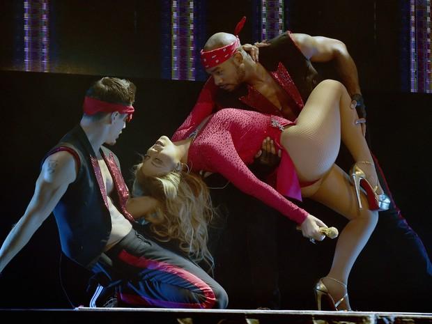 Mariah Carey em show na Cidade do México, no México (Foto: Alfredo Estrella/ AFP)