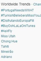Trending Topics no Mundo às 17h04 (Foto: Reprodução/Twitter.com)