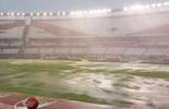 Temporal castiga gramado, e jogo do River Plate é adiado (reprodução Olé)