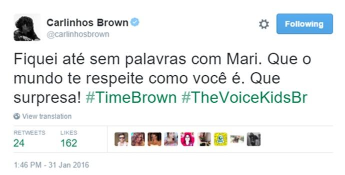 Carlinhos Brown comenta The Voice Kids (Foto: Reprodução)