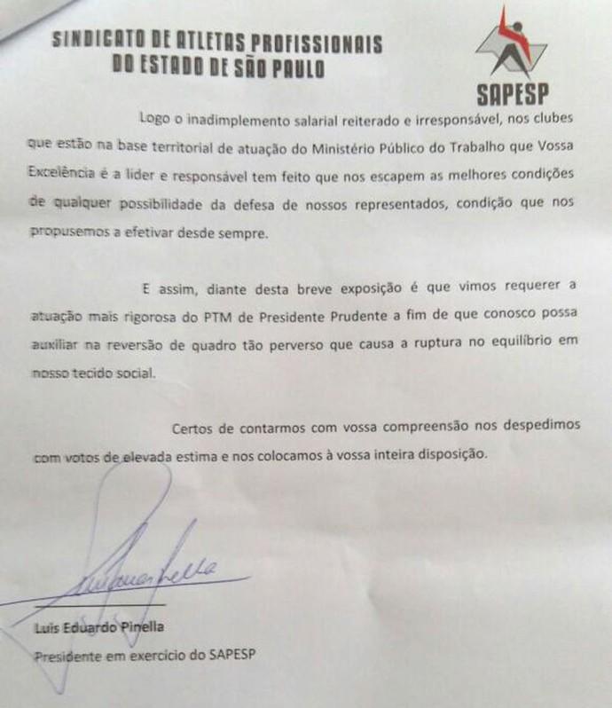 Fotos e ofício serão encaminhadas à Procuradoria do Trabalho de Presidente Prudente (Foto: Sapesp / Cedida)