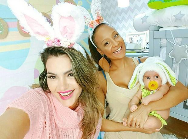 Kelly Key, Drika Marinho e Artur (Foto: Reprodução/Instagram)