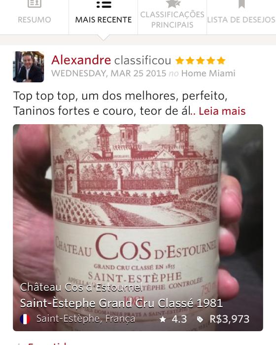 Alexandre Romano comenta vinho de R$ 3 mil (Foto: Reprodução)