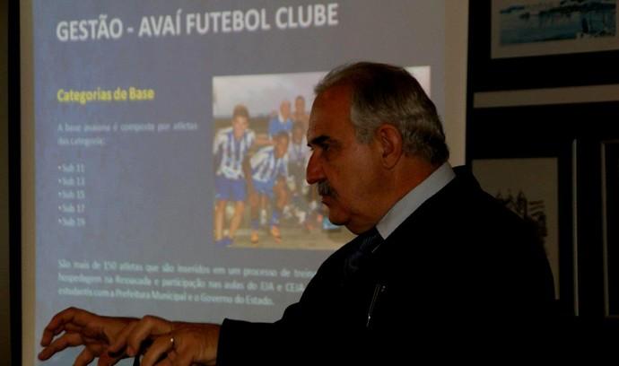 Presidente Avaí Nilton Macedo Machado (Foto: Alceu Atherino/Avaí FC)