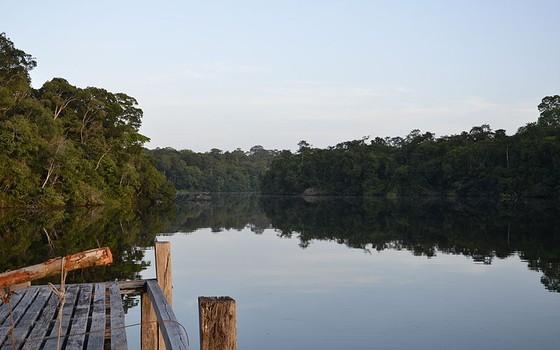 Rio Caxiuanã na Floresta Nacional de mesmo nome. A unidade de conservação pode ter exploração de madeira em esquema de concessão federal (Foto: Leonardo Teixeira Dall'Agnol)