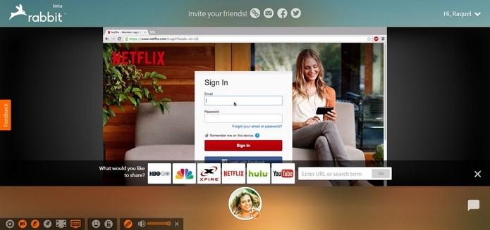 Apenas quem convida precisa ter assinatura do Netflix (Foto: Reprodução/Raquel Freire)