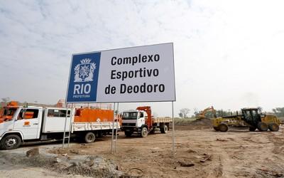 Obras deodoro rio 2016 (Foto: Beth Santos)
