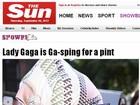 Jornal mostra foto de Lady Gaga tomando cerveja após compras