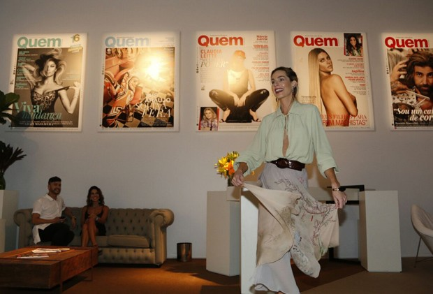 Mariana Weickert no lounge QUEM e Marie Claire  (Foto: Marcos Rosa/Ed. Globo)