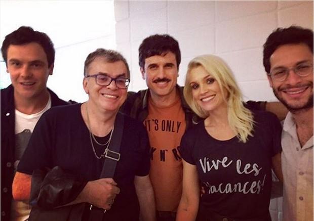 Sérgio Guizé, Walcyr Carrasco, Eriberto Leão, Flávia Alessandra e Rainer Cadete (Foto: Reprodução/Instagram)
