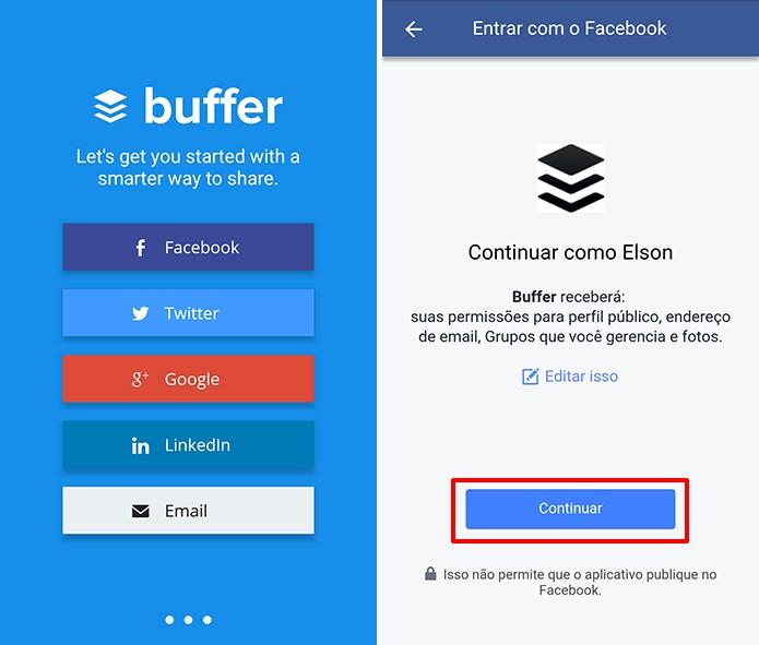 Buffer para Android e iOS pode ser usado para agendar posts no Instagram (Foto: Reprodução/Elson de Souza)