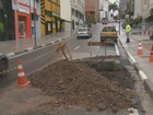 Comerciantes e pedestres reclamam de acabamento na Francisco Glicério