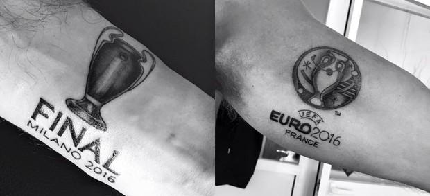 BLOG: Árbitro de finais de Liga e Euro faz tatuagens em homenagem a feito