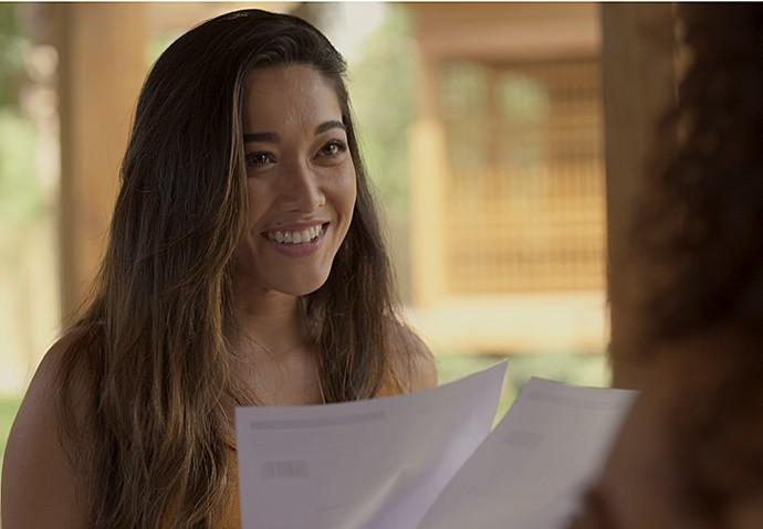 Yumi anuncia resultado do exame para Dora e Tiago (Foto: TV Globo)