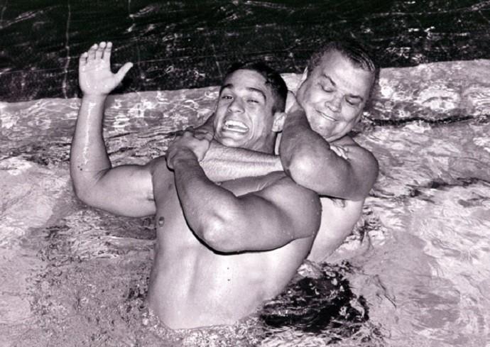 Vitor Belfort e Carlson Gracie (Foto: Marcelo Alonso)