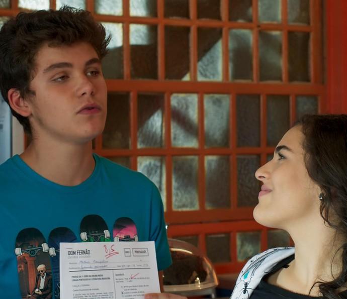 Artur mostra o resultado  (Foto: TV Globo)