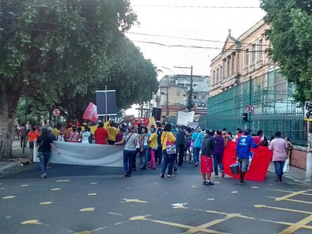 Ato iniciou na Avenida Getúlio Vargas (Foto: Divulgação/ Manaustrans )