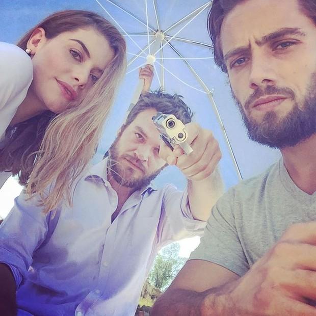Alinne Moraes, Emílio Dantas e Rafael Cardoso (Foto: Reprodução/Instagram)