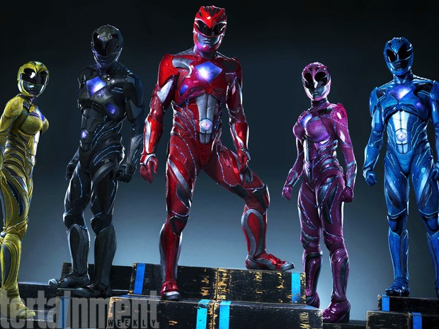 Uniformes dos novos Power Rangers são divulgados pela revista Entertainment Weekly (Foto: Tim Palen/Lionsgate)