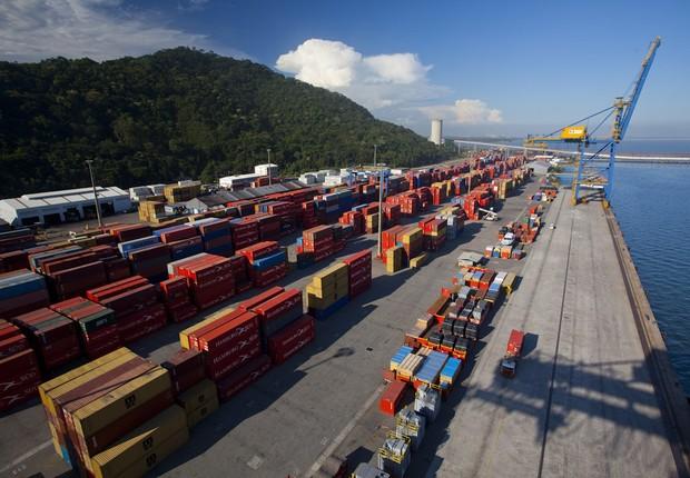 Sepetiba Tecon, o terminal de contêineres da CSN em Itaguaí em Santa Catarina (Foto: Divulgação)
