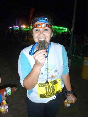 Isabel Scisinio corrida noturna eu atleta (Foto: Arquivo Pessoal)