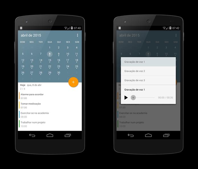 App de calendário é gratuito, em português e com visual muito arrojado (Foto: Divulgação)