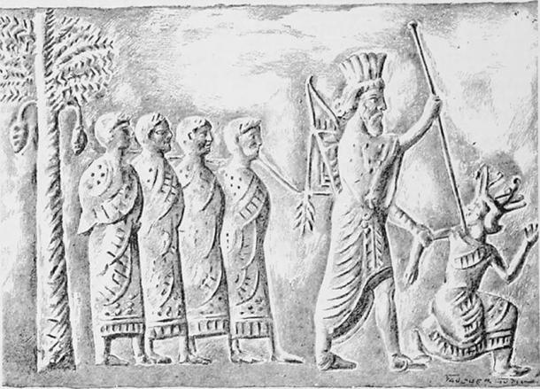 Representao do Rei Cambyses (Foto: Divulgao)
