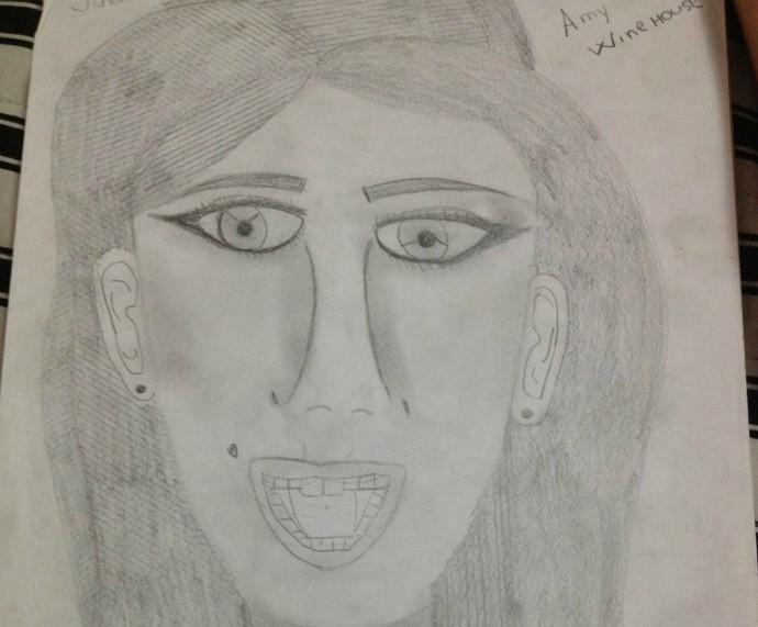 Desenho de Laura Schadeck do The Voice Kids (Foto: Arquivo Pessoal)