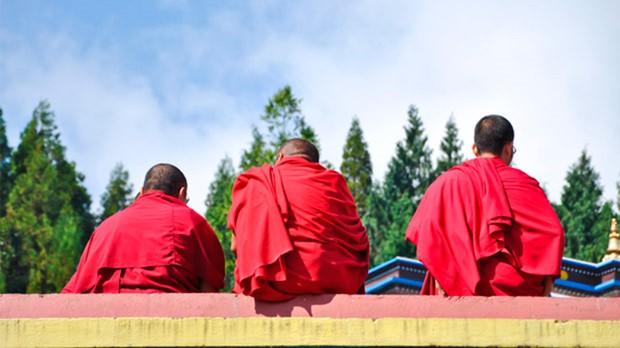 Monges no Templo Lamas (Foto: Divulgao)